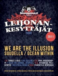 We Are The Illusion, Suudella sekä Ocean Within Suomen kiertueelle