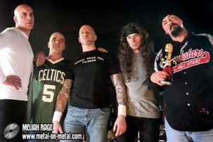 Meliah Rage kiinnitetty Metal On Metal Recordsille