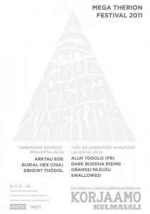 Mega Therion -festivaali Korjaamolla lokakuussa