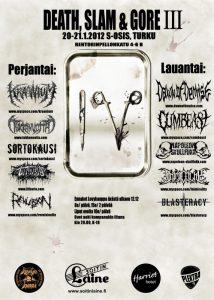 Death, Slam & Gore III -festivaali järjestetään Turussa tammikuussa