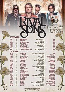 Rival Sons kolmelle keikalle Suomeen lokakuussa