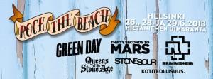 Green Day, Rammstein, Queens Of The Stone Age sekä 30 Seconds To Mars Helsinkiin kesäkuussa