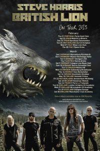 Steve Harris tuo British Lion kiertueensa Suomeen maaliskuussa