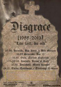 Rockyhtye Disgrace soittaa 25-vuotisjuhlakiertueen – ja laittaa pillit pussiin