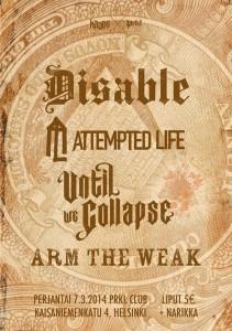 Kaaoszinen maaliskuun klubi-ilta vietetään hardcoren sekä metalcoren merkeissä