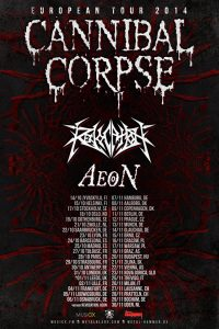Cannibal Corpse European Tour 2014