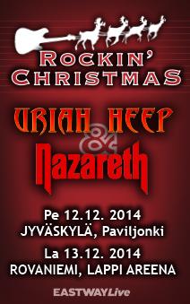 Uriah Heep ja Nazareth Suomeen kahdelle keikalle joulukuussa