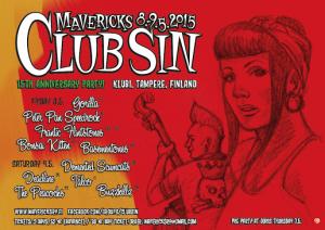 Club Sin juhlistaa 15-vuotista taivaltaan komealla kattauksella psychobillyä