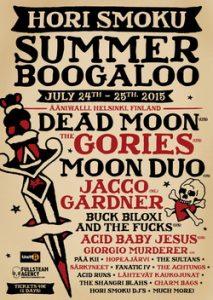 Dead Moon sekä The Gories Hori Smoku Summer Boogaloon pääesiintyjiksi