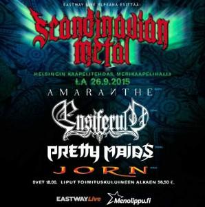 Amaranthe tähdittämään Scandinavian Metal -tapahtumaa Kaapelitehtaalla syyskuussa (PERUTTU)