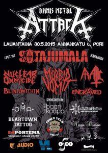 Annis Metal Attack järjestetään Porissa toukokuussa