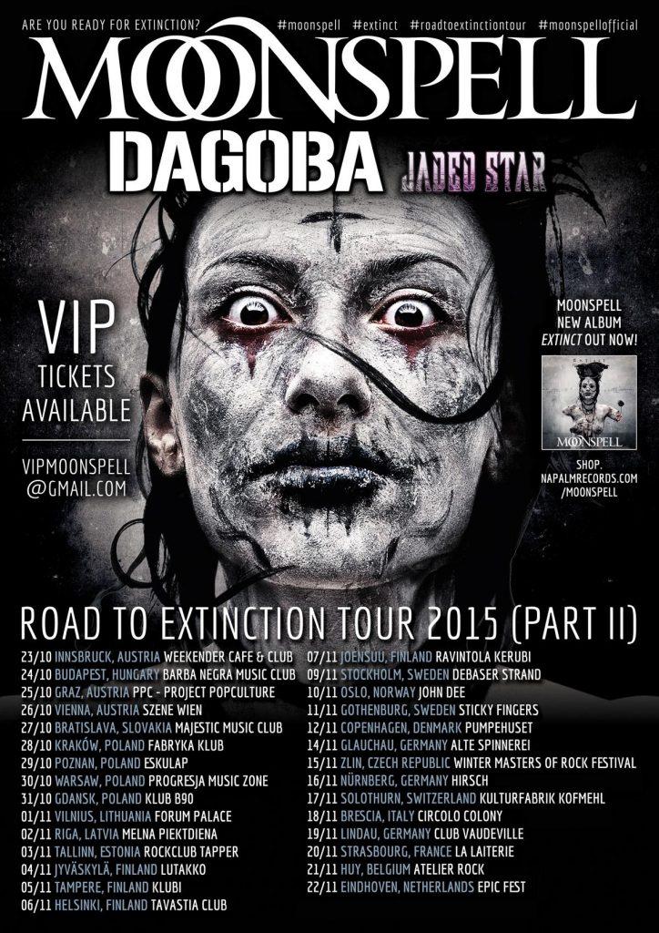 Moonspell Suomen Kiertue 2015