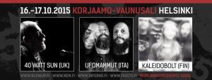 Ufomammut ja 40 Watt Sun esiintyvät Blowup Vol. 1:ssä