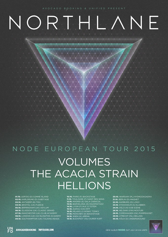 Northlane Europe Tour 2015