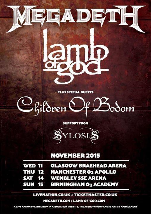 Megadeth Lamb Of God 2015