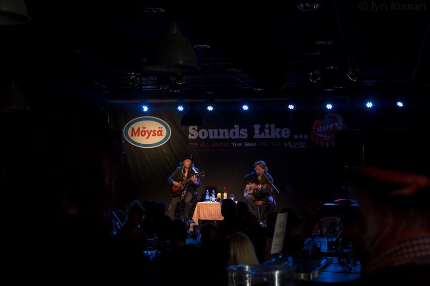 Dave Lindholm & Devil Virtanen @ Möysän Esso, Lahti 19.8.2015