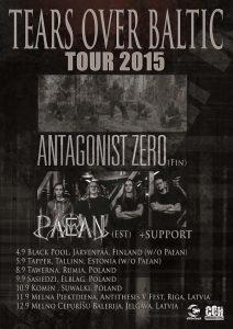 Antagonist Zero kiertää Suomea syyskuussa yhdessä virolaisen Paeanin kanssa