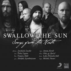Melankolisen doomin kotimainen ykkösnimi Swallow the Sun Suomen kiertueelle tammikuussa