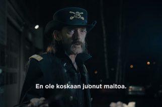 Motörheadin edesmennyt Lemmy Kilmister Valion uudessa maitomainoksessa