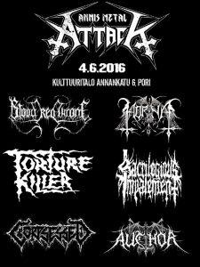 Annis Metal Attackin ohjelma valmis: Torture Killer lisätty tapahtuman ohjelmistoon