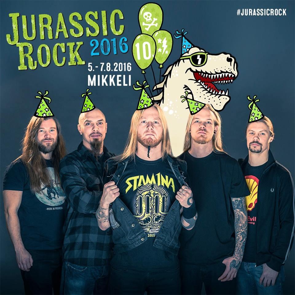 Stam1na esiintyy Jurassic Rockissa 10/10-juhlakeikan merkeissä
