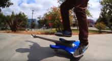 Katso miten kitara muutetaan skeittilaudaksi