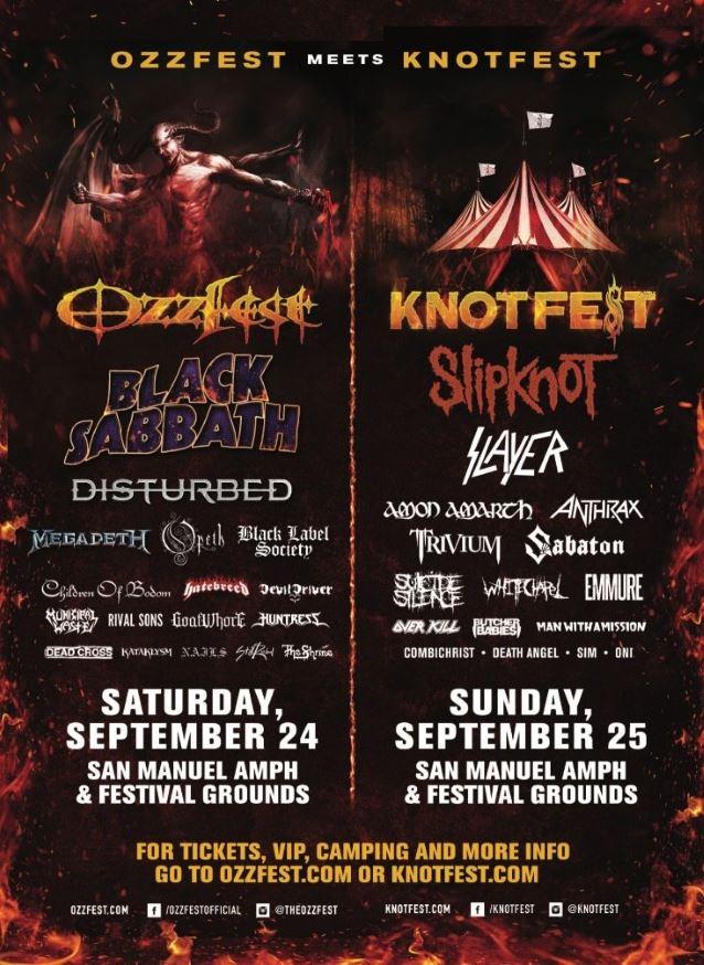 Ozzfest Knotfest 2016 kokoonpano