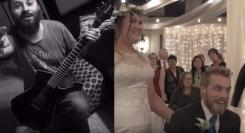 Vaimo yllätti miehensä häissä: Death metal ja noise rock -muusikot onnittelivat tuoretta avioparia