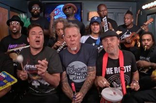 """Metallica esitti """"Enter Sandman"""" -kappaleen lasten soittimilla Jimmy Fallon -ohjelmassa – katso hauska video"""