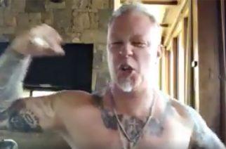 Metallica James Hetfieldin onnitteluvideo Iggy Popille