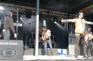 Suureksi nettisensaatioksi noussut black metal -yhtye Azazel tänään suorassa tv-lähetyksessä