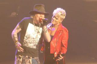 """Guns N' Roses sai lavalle seurakseen poplaulaja Pinkin – katso video """"Patience"""" -yhteisvedosta"""