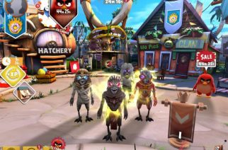 """Iron Maidenin Eddie -maskotti osa """"Angry Birds Evolution"""" -videopeliä neljän Iron Maiden-kappaleen kera"""