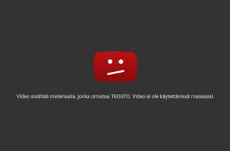 Kotimaisten artistien videot estetty YouTubessa – pitäisi palata ennalleen vielä tällä viikolla