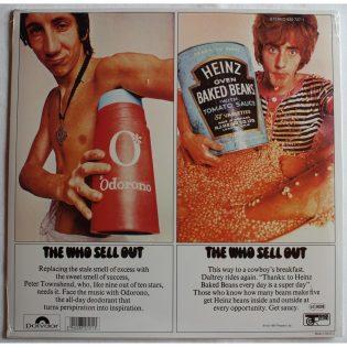 Kitaristi Pete Townsend ja laulaja Roger Daltrey mainosmiehinä Teh Who Sell Outin kannessa