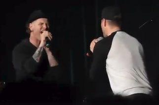 """Corey Taylor lauloi Bon Jovin kappaleen """"Wanted Dead Or Alive"""" Supernatural-tähti Jensen Acklesin kanssa – video katsottavissa"""