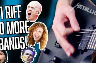 """Tältä kuulostaa Metallican """"Enter Sandmanin"""" riffi muun muassa Megadethin, System Of A Downin, Meshuggahin ja Anaal Nathrakhin tyylillä"""