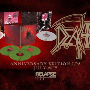 """Death julkaisee vinyylinä juhlajulkaisut albumeistaan """"Leprosy"""", """"Individual Thought Patterns"""" ja """"The Sound of Perseverance"""""""