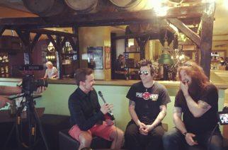 Skid Row KaaosTV:n haastattelussa. Kuvaaja: Jukka Haapajoki