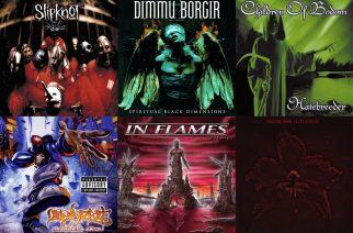 Nu metalin ja melodisen death metalin kulta-aikaa: nämä rock- ja metallialbumit täyttävät tänä vuonna jo 20 vuotta – katso lista!