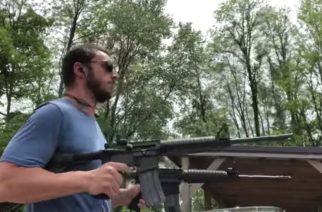 """Amerikkalaisin video on löytynyt: mies versioi Lamb Of Godin """"Laid To Restin"""" rummut kahdella kiväärillä"""