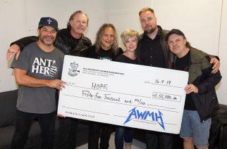 Metallica jatkoi vähävaraisten tukemista: yhtyeeltä hulppea lahjoitus Hope ry:lle