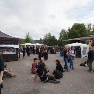 Lahti Metal BBQ:n yleisöä kesällä 2019