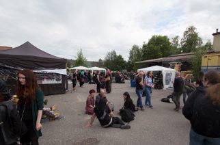 Lahti Metal BBQ:n yleisöä