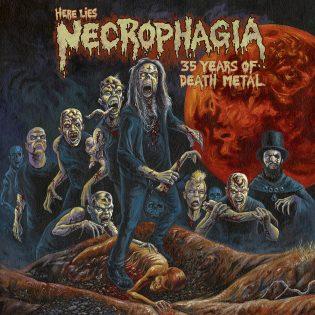 """""""Kolme ja puoli vuosikymmentä visvaista kuolonkorinaa"""" – Arviossa """"Here Lies Necrophagia"""" -kokoelma"""