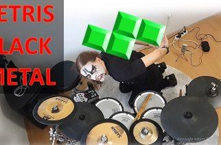 Hyvää halloweenia vaan: rumpali esitti Tetriksen teemasta ehdan black metal -version corpse paintit naamallaan