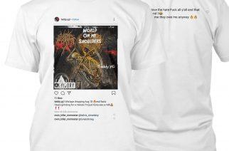 Räppäri plagioi Cattle Decapitationin kansitaiteen poistamatta edes bändin logoa – yhtye näpäytti takaisin uudella paitadesignillaan