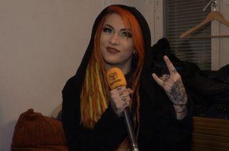"""KaaosTV tapasi ensi kesänä John Smith Rock Festivaliin saapuvan Infected Rainin Lena Scissorhandsin Tavastialla: """"Kornin ja Northlanen uudet albumit ovat mestariteoksia"""""""