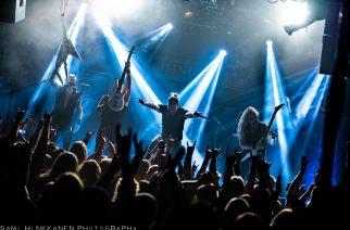 Melodisen death metalin jäähyväiset Helsingin Nosturille – katso kuvat Omnium Gatherumin keikalta