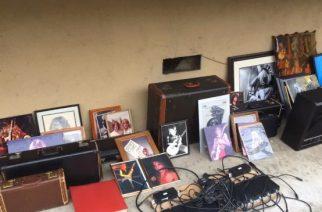 Osa Randy Rhoadsin varastetusta omaisuudesta löydettiin roskasäiliöstä Hollywoodissa